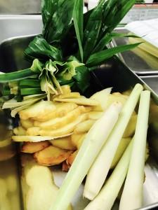 ジャスミンライスに使う野菜たち。